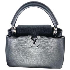 Louis Vuitton BB Capucines Black/ Pink taurillon leather