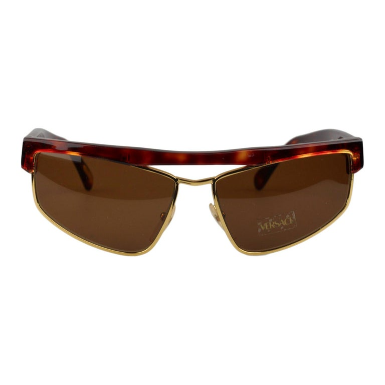 4136d92dd ... Square Sunglasses 418 54-14mm NOS. HomeFashionAccessoriesSunglasses. Gianni  Versace Vintage Brown Sunglasses Mod. S01 Col 740 New Old Stock For Sale