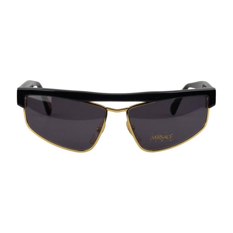 ef11bb8d8d Gianni Versace Vintage Black Sunglasses Mod. S01 Col 784 New Old Stock For  Sale