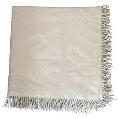 Hermès Pure Cashmere Beige Stripes Blanket 110 x 115 cm (43.3 x 45.2 inches)