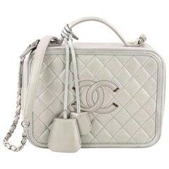 Chanel Filigree Vanity Case Quilted Caviar Medium