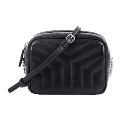 Saint Laurent LouLou Bowling Bag Matelasse Chevron Leather Mini