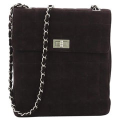 Chanel Chocolate Bar Multipocket Flap Bag Quilted Suede Small