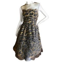 Oscar de la Renta New w Tags Feather & Sequin Evening Dress Hard to Find Size 14