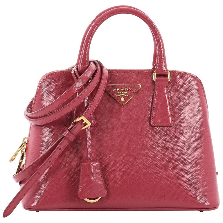 dc8e87572 Prada Promenade Handbag Vernice Saffiano Leather Small at 1stdibs