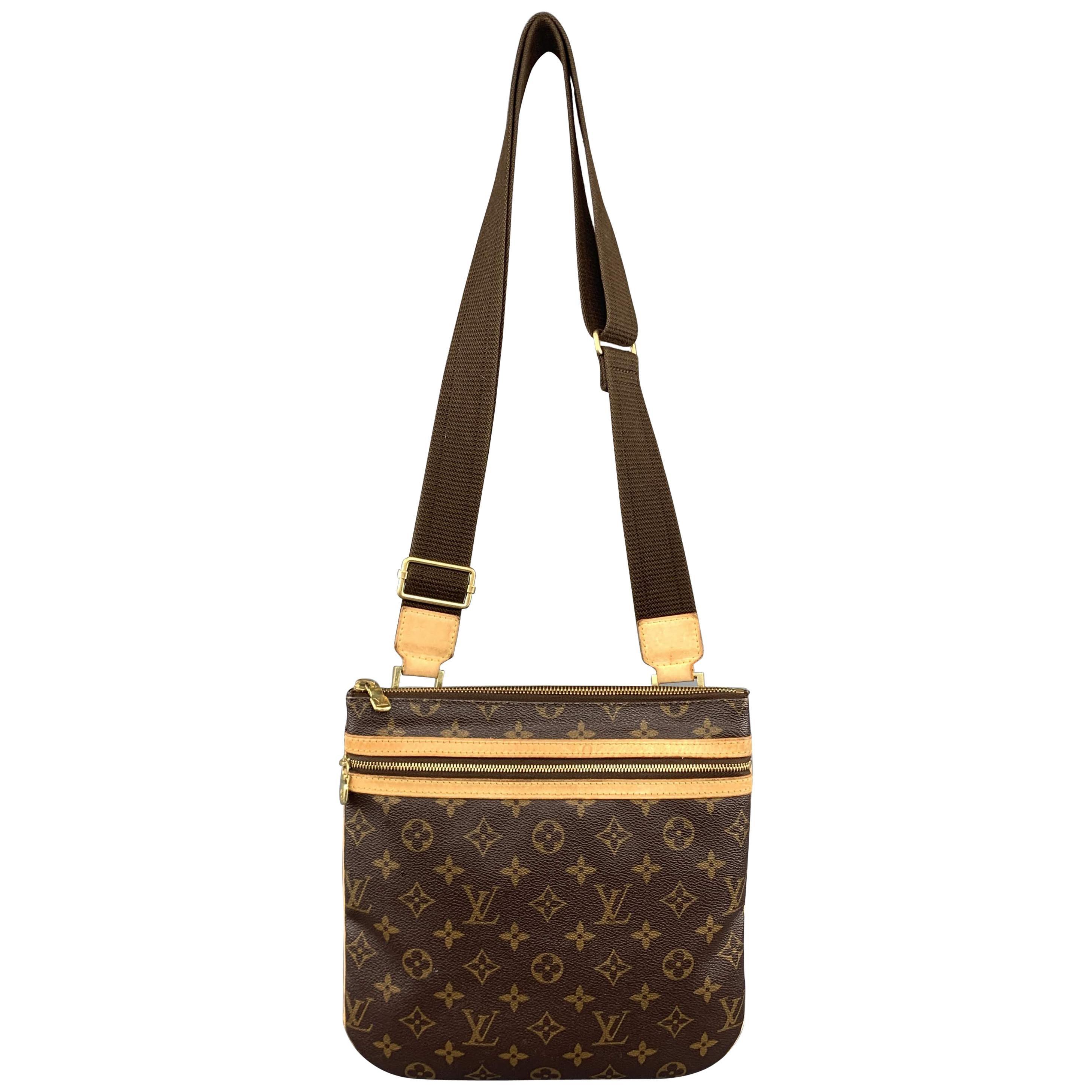 15109424cc53 LOUIS VUITTON Brown Monogram Pochette Bosphore Coated Canvas Crossbody Bag  at 1stdibs