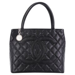 Chanel Medallion Tote Quilted Caviar,