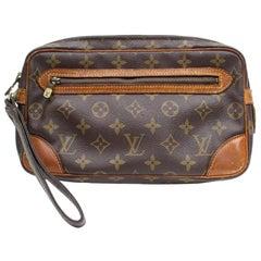 fb807ed7ea0a Louis Vuitton Marly Dragonne Pochette Monogram 868537 Brown Cork Wristlet