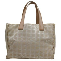Chanel New Line Travel 868062 Beige Canvas Tote