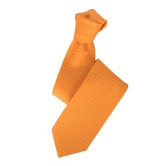 Hermes Tie Faconnee H Orange Vif New