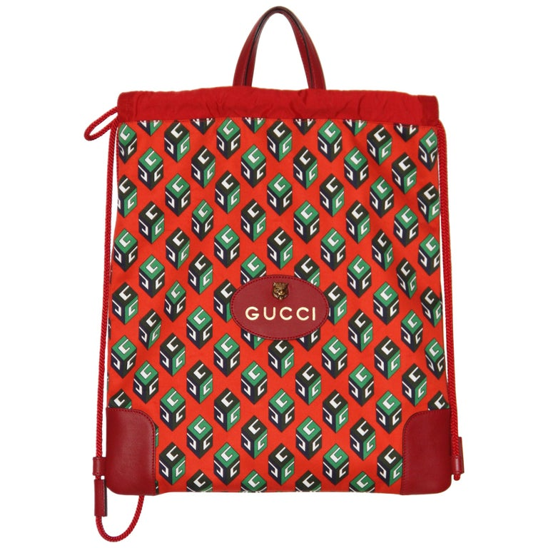 f7ebe2691d0 Gucci Wallpaper Drawstring Backpack For Sale at 1stdibs
