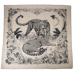 Hermes Scarf Jungle Love Tattoo Cashmere Silk 140 cm