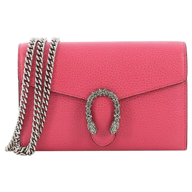 efabf245a54 Gucci Dionysus Chain Wallet Leather with Embellished Detail Small For Sale