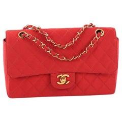 e1b2ec2491ba Chanel Vintage CC Chain Flap Bag Quilted Grosgrain Medium