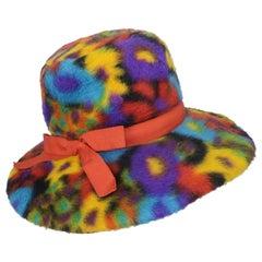 Mod C.1970 Christian Dior Chapeaux Faux Fur Hat