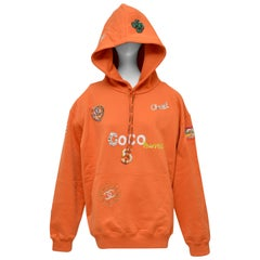 Chanel x Pharrell Capsule Collection Hoodie  Lesage Embroidery  Orange M  NEW