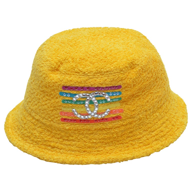 cd3a62a84 Chanel x Pharrell Capsule Collection Bucket Hat Yellow L NEW