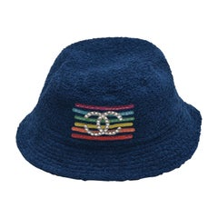 Chanel x Pharrell Capsule Collection Bucket Hat  Crystals  Blue   L   NEW