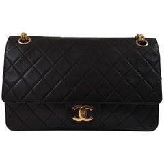 Chanel 2.55 Black Leather Shoulder Bag