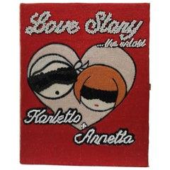 MuaMua Karletto and Anna Lover Story Book Pochette Shoulder Bag