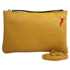 Le Moki Ecru Leather Shoulder Handle Bag