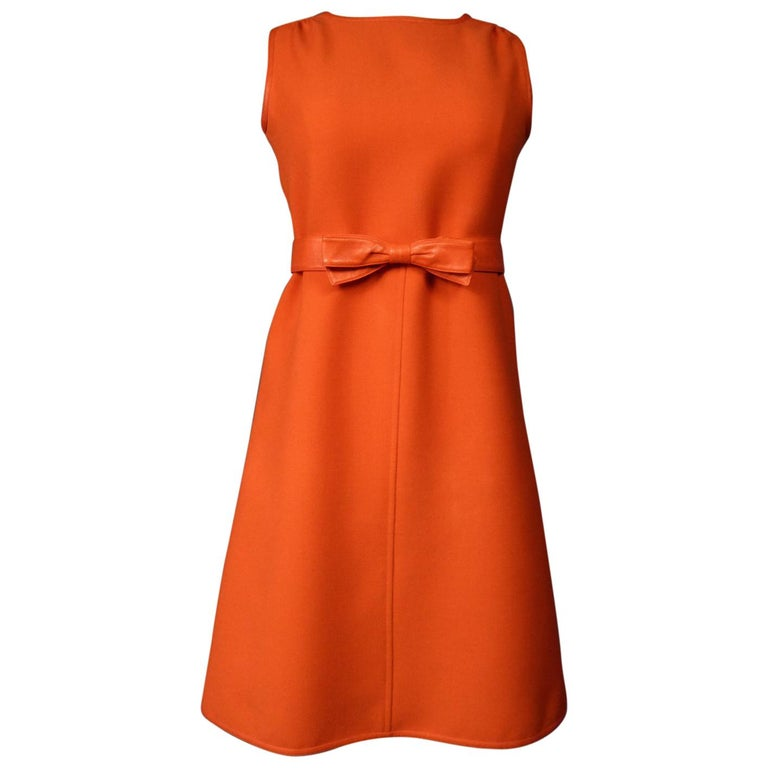Courrèges Couture Future Dress numbered 0045426 Circa 1970/1972 For Sale