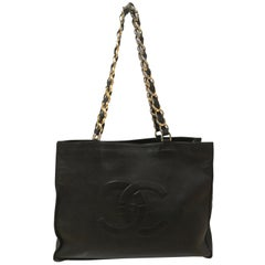 Chanel Black Leather Shopper Bag
