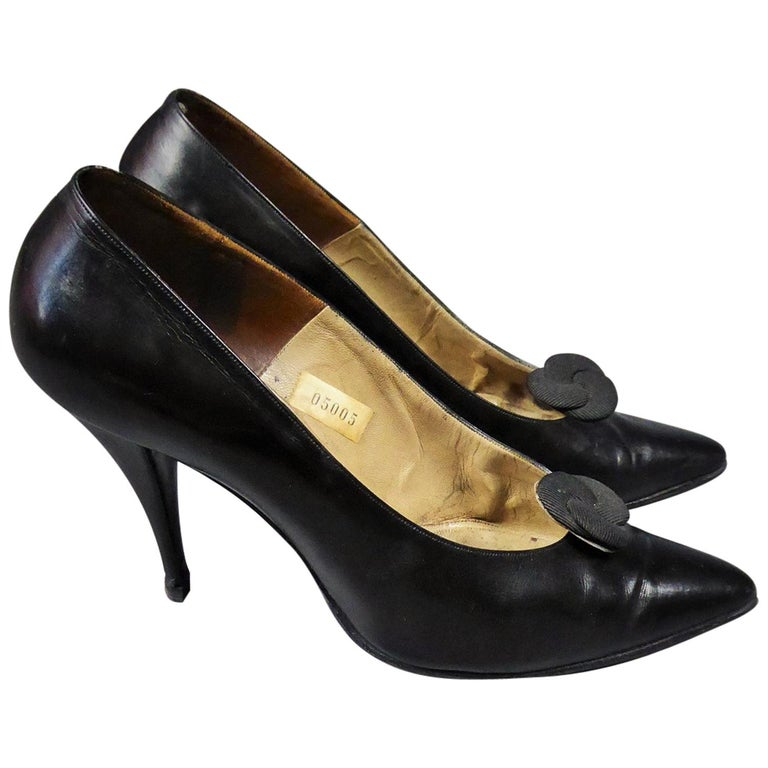 A Christian Dior pair of evening heel by Roger Vivier Circa 1960 For Sale