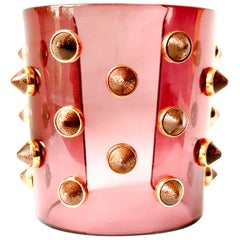 Fendi Studded Transparent Acrylic Cuff