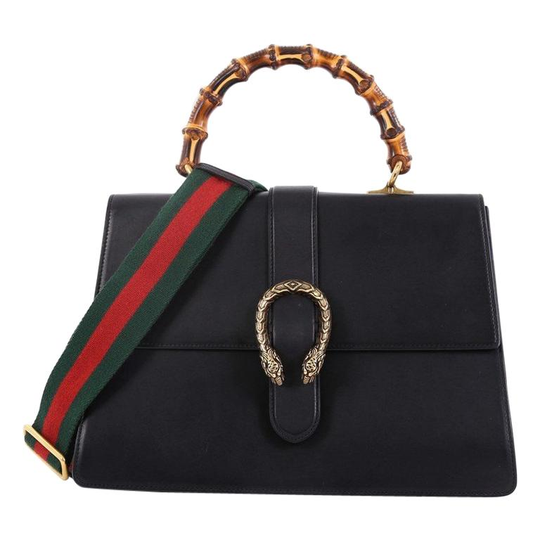 4dd6816e099 Gucci Dionysus Bamboo Top Handle Bag Leather Large For Sale at 1stdibs