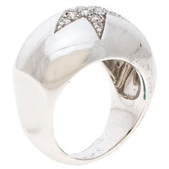 Chanel Comète Boule Diamond 18K White Gold Ring