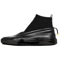 Marni Black Scuba/Leather Ankle Booties Sz 9.5