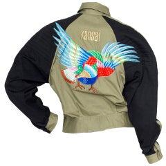 1980s Kansai Yamamoto Canvas Biker jacket
