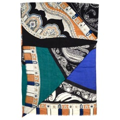 Etro Multi-Color Wool/Yak Printed Scarf