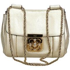 Chloe Gold  Leather Elsie Shoulder Bag France w/ Dust Bag