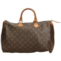 Louis Vuitton Brown Monogram Canvas Canvas Monogram Speedy 40 France