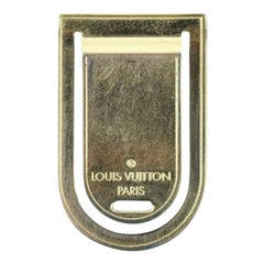 Louis Vuitton Gold 18k Plated Money Clip 222037