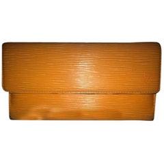 Louis Vuitton Epi Leather Orange Lvtl10 Wallet