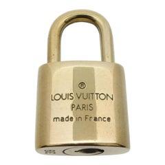 Louis Vuitton Gold Single Key Lock Pad Lock and Key 868252