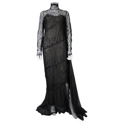 A Chanel Haute Couture Evening Dress by Karl Lagerfeld in Calais Lace Circa 1997