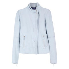 Gucci Blue Leather Jacket US 8