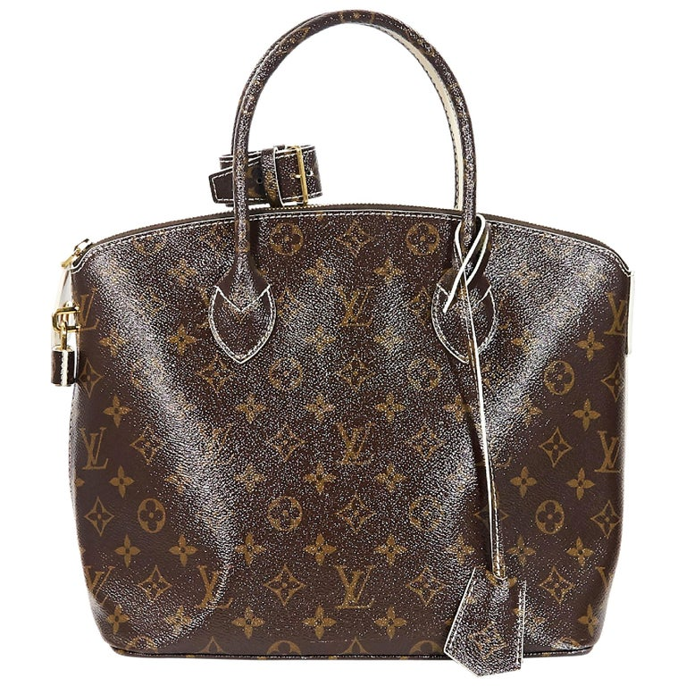 08882dead085 Brown Louis Vuitton Monogram Shine Fetish Lockit Bag For Sale at 1stdibs