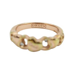 Coach Gold Heart 59coa1025 Ring