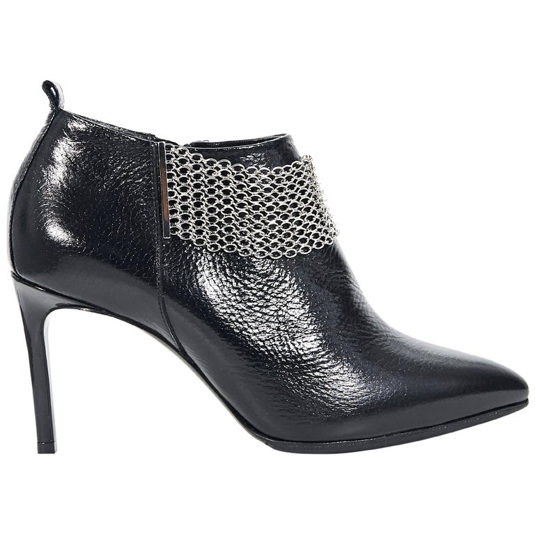 Black Lanvin Patent Leather Ankle Boots For Sale At 1stdibs