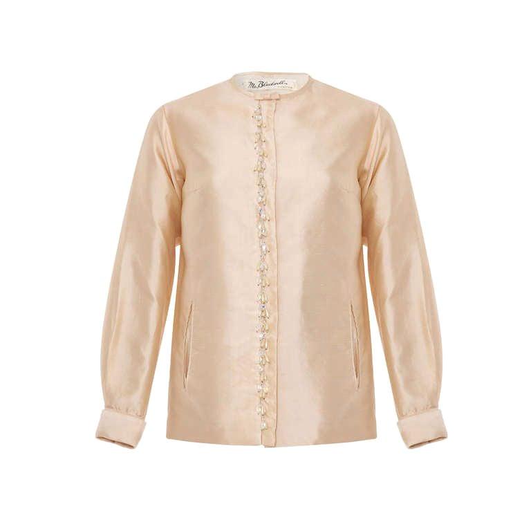 1960's Mr Blackwell Ivory Silk jacket