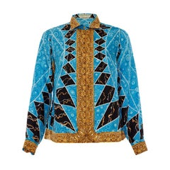 Early 1960's Emilio Pucci Printed Silk Blouse Very Versace!