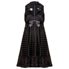 1960s Saks 5th Avenue Black Baby Doll Dress