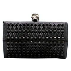 Alexander McQueen Black Studded Hexagon Box Clutch