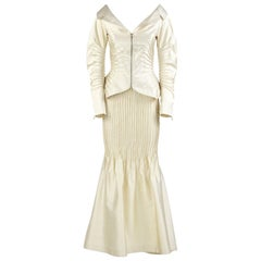 Gianfranco Ferré Ivory Silk Vintage Wedding Suit, 2000s