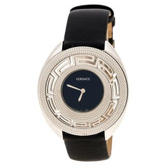 Versace Black Stainless Steel 67Q Women's Wristwatch 39 mm